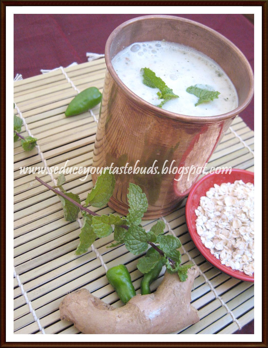 Oats-Masala More | Spiced Oats Lassi / Buttermilk