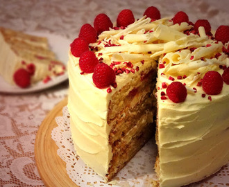 Raspberry & White Chocolate Layer Cake