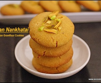 Besan Nankhatai |  Indian Gram Flour Eggless Cookies