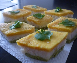 Tri Color Dhokla ~ Republic Day Special