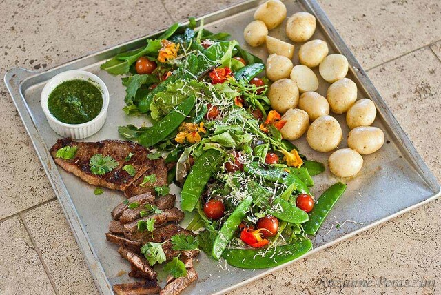 Beef Chimichurri, New Potatoes & Crunch Salad – Jamie's 15 Minute Meals