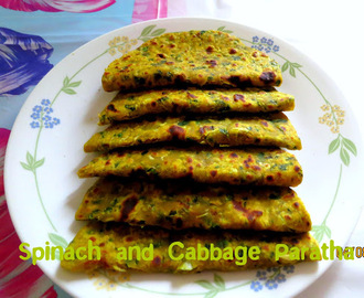 Spinach and Cabbage paratha
