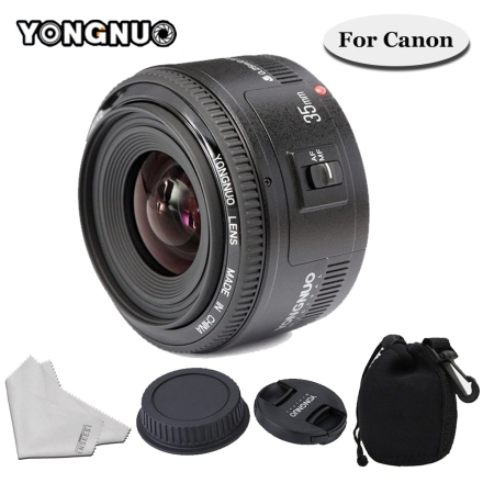 YONGNUO 35mm F/2 Lens YN35mm Wide-angle Large Aperture Fixed Auto Focus Lens For Canon 6d 60d 5d mark iii 550d 1100d 650 Camera