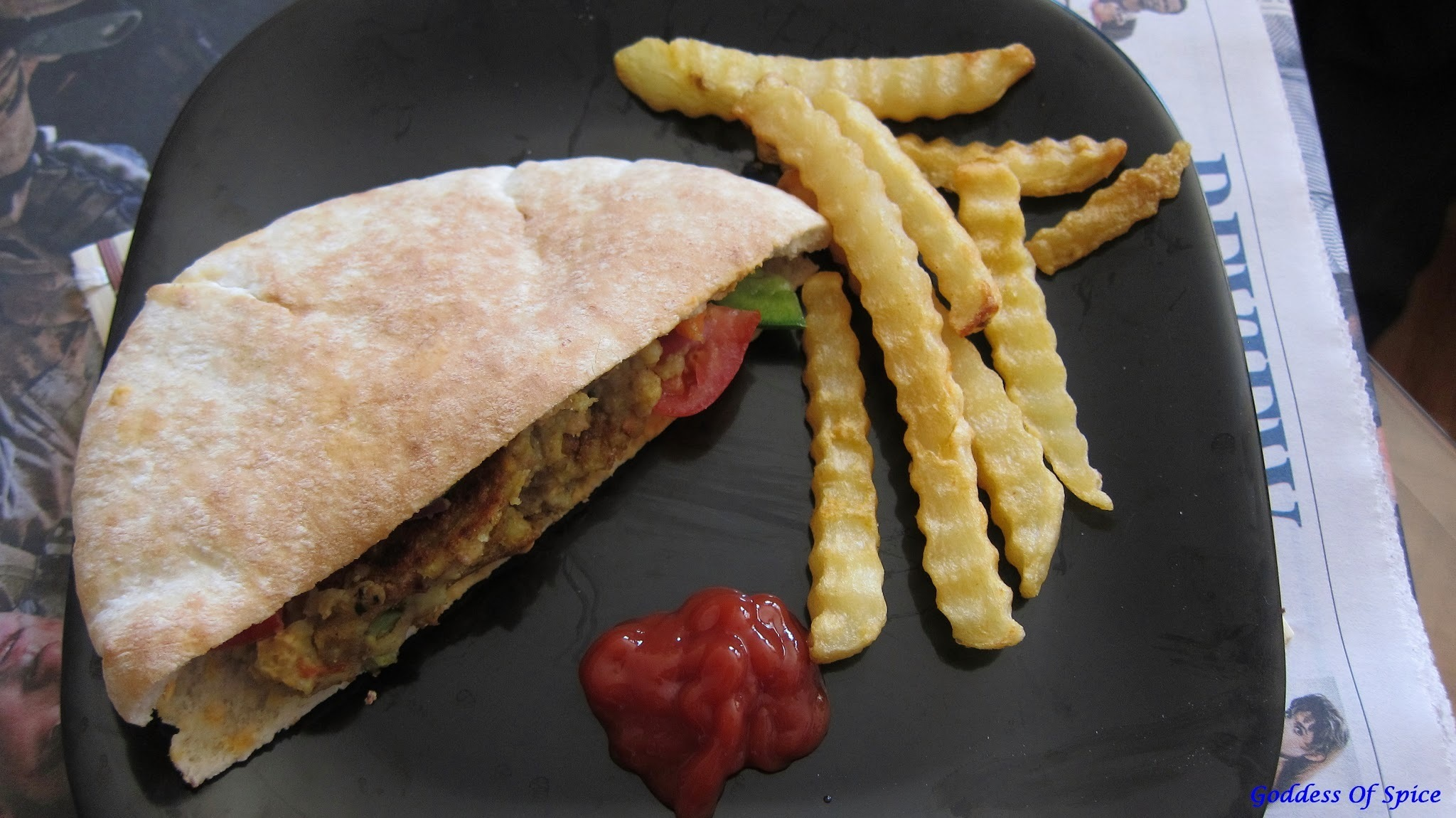 Khichdi Pattice in Pita Pockets