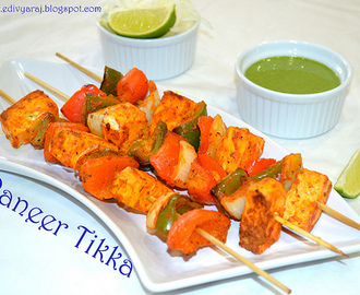 Paneer Tikka (In Oven and Grilled ) Grilled Cottage Cheese