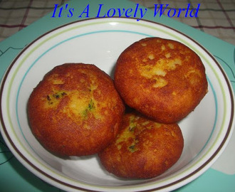 Peas Filled Potato Kachori