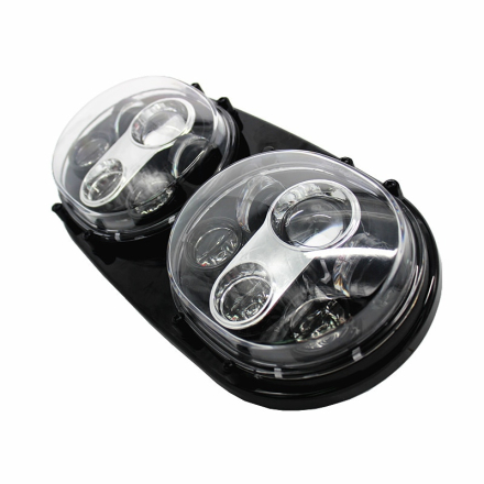 "New Products motor Accessories Double 5.75inch Headlight Motorcycle Road Glide 5 3/4"" Dual Led Headlight for Harley Projector"