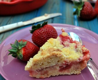rhubarb strawberry coffee cake {tres}