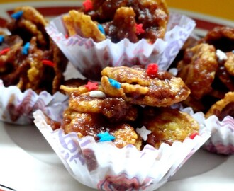 Nutella Cornflakes In Mini Cups / No Bake Cornflakes Cookies ~ Kids Friendly Recipe
