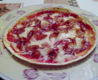 Pizza de Tortilla Mexicana de Jamón