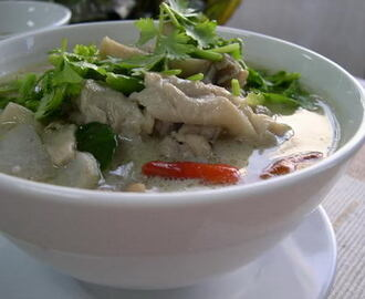 Tom Ka Gai ( Thai suppe ) på 1-2-3.