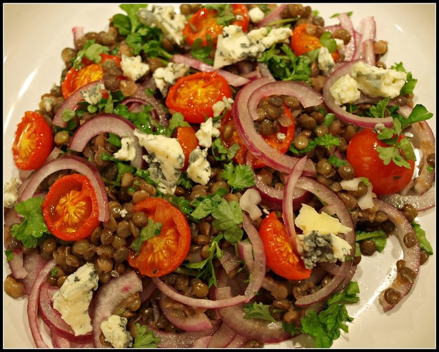 Lentil and Red Onion salad