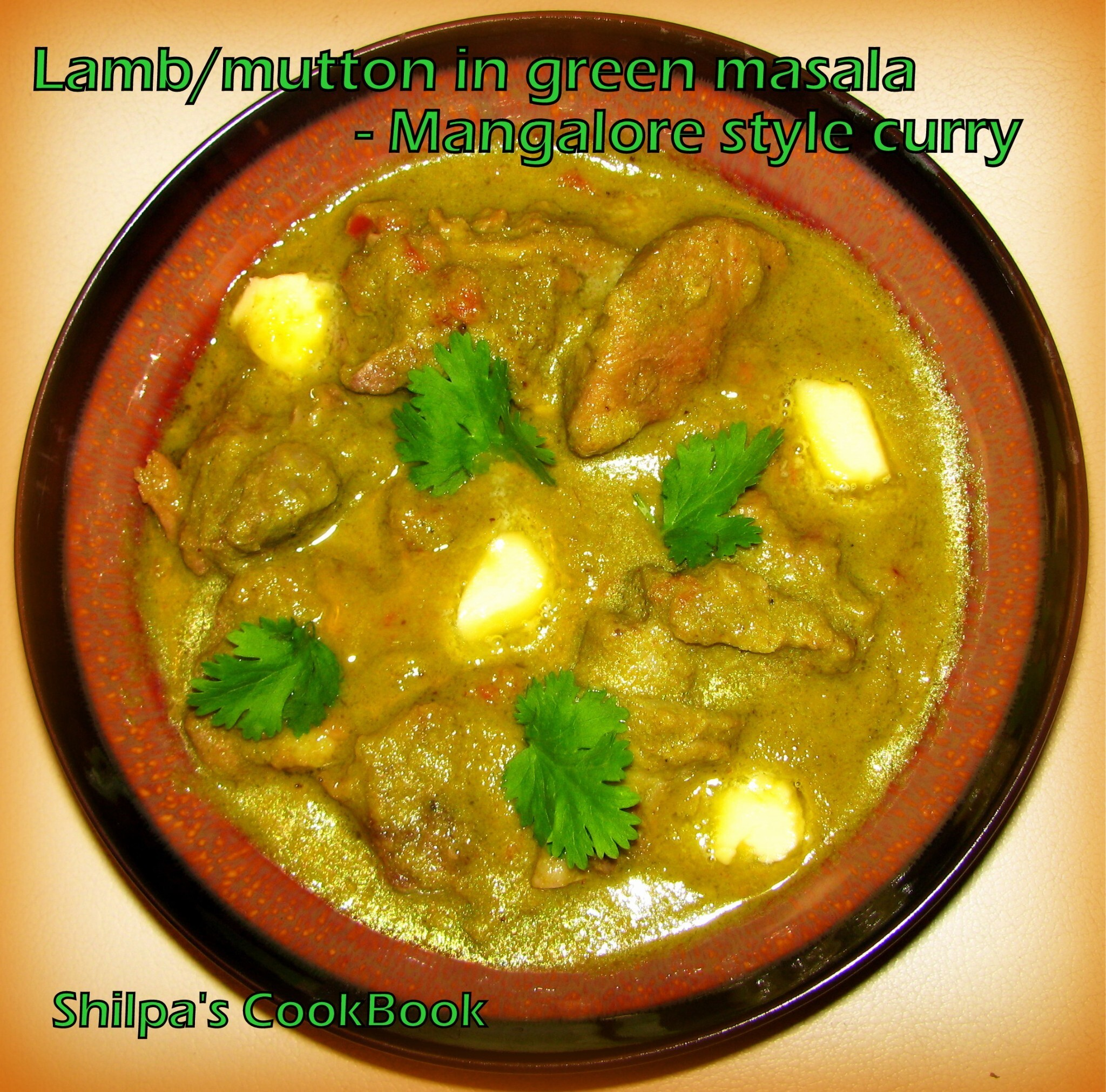 Mutton in Green masala - Mangalore style curry