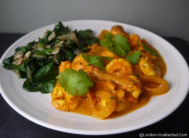 5-2 Diet Prawn Curry for a Fast Day