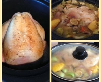 Slow Cooker Recipe - One Pot Roast Chicken With Lemon