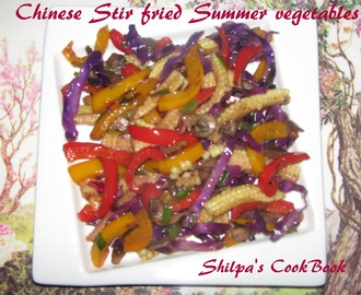 Chinese Stir fried Summer Vegetables