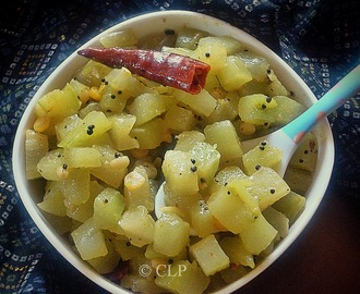 Chow Chow Poriyal | South Indian Chayote Squash | Summer Recipe