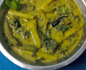 Lentil with Leaves, Shoots And Stems Of Bottle Gourd / Bengali Lau Shaker Dal