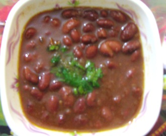 Punjabi Rajma (Red Kidney beans curry - Punjabi style)