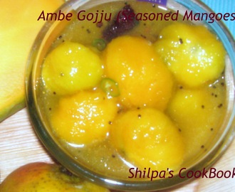 Ambe Gojju (Seasoned Ripe Mangoes)