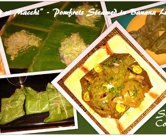 """Patra ni Macchi"" or Pomfrets Steamed in Banana leaves - A Parsi delicacy"