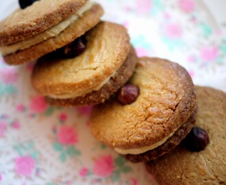 Hazelnut and Coffee Cream Biscuits