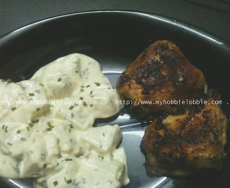SRC: Smokey Potato Salad with Pan fried Chicken