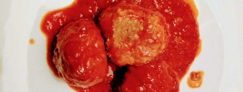 STUFFED VEAL MEATBALLS IN TOMATO SAUCE