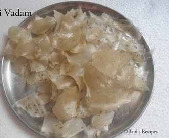 Elai  Vadam / Homemade rice papad | Vathal recipes (with a small video)