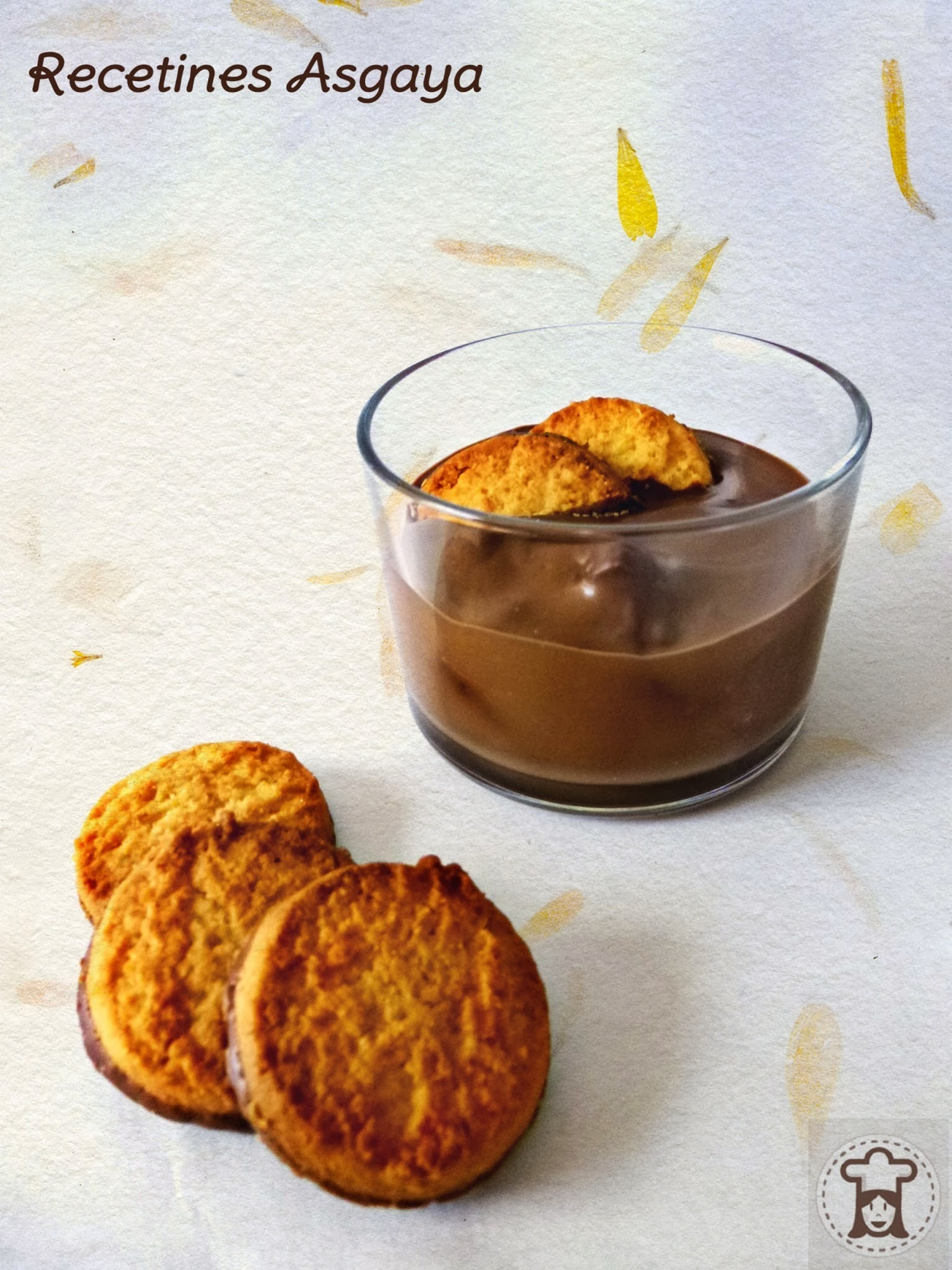 Panna Cotta de Chocolate con Galletas de Coco