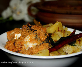 Kerala Style Fish Curry with Raw Mangoes / Manga Itta  Meen Curry