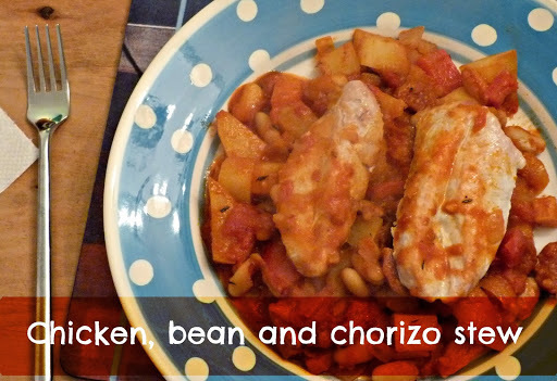 Recipe: Chicken, bean and chorizo stew