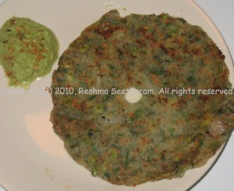 Avarekai Akki Roti/ South Indian flat bread