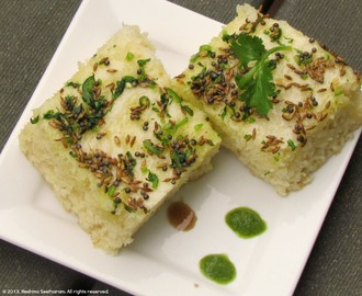 Steamed white cakes - or white dhoklas