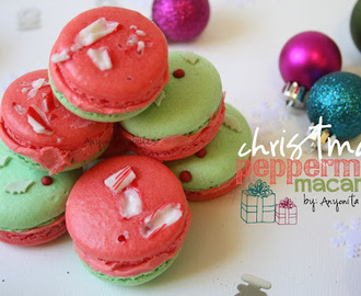 Christmas Peppermint Macarons with Peppermint Buttercream & Free Gift Tags