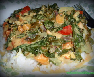 Greens Curry with Coconut Milk