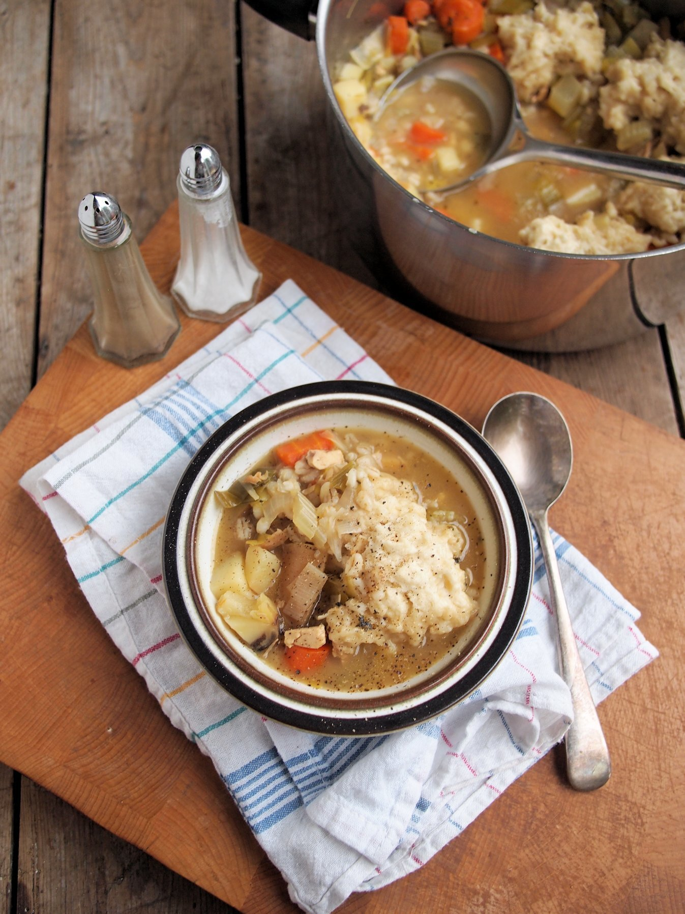 Meal Plan: Diet Food and Comfort Food – Farmhouse Chicken & Vegetable Stew with Dumplings Recipe