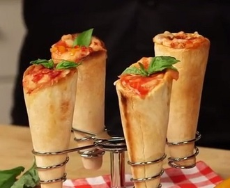 What can be better than a pizza? A pizza cone!
