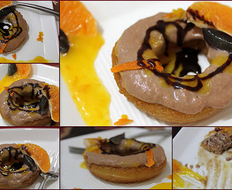 Chocolate Shahi Tukra with Orange Sauce