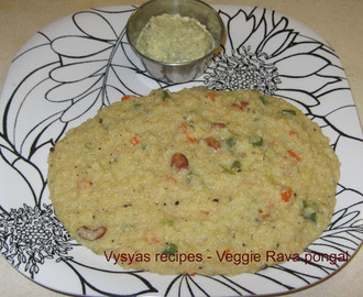 Vegetable Wheat pongal - cracked Wheat pongal - Godhuma Rava pongal