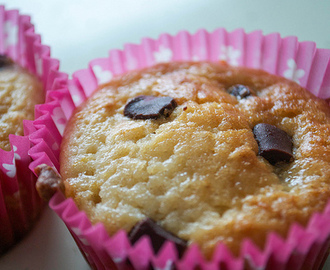 Lemon and Dark Chocolate Muffins