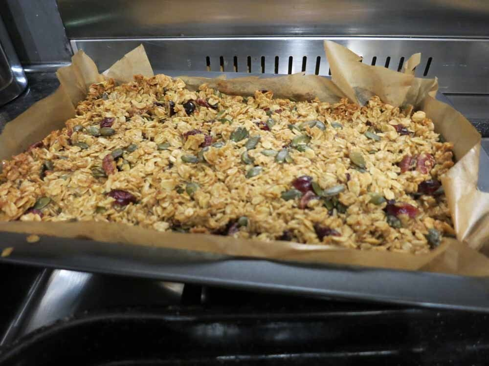 Christmas Flapjack Recipe (low fructose)