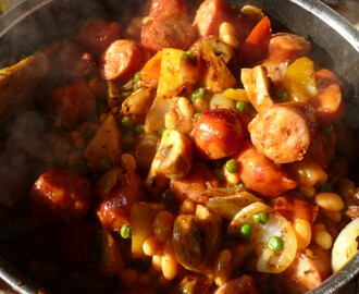 Midweek recipe : Quick Smoked Sausage and Bean Casserole