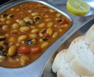 Lobiya Usal (Black Eyed Beans curry)