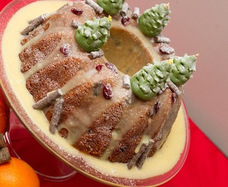 Christmas Spiced Cranberry, Orange and Carrot Bundt Cake