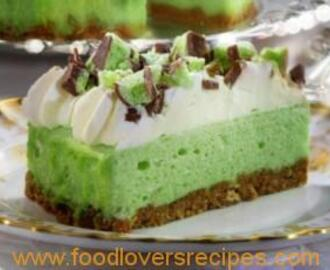 NO BAKE MINT AERO CHEESE CAKE