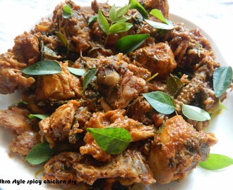 Andhra style spicy chicken dry
