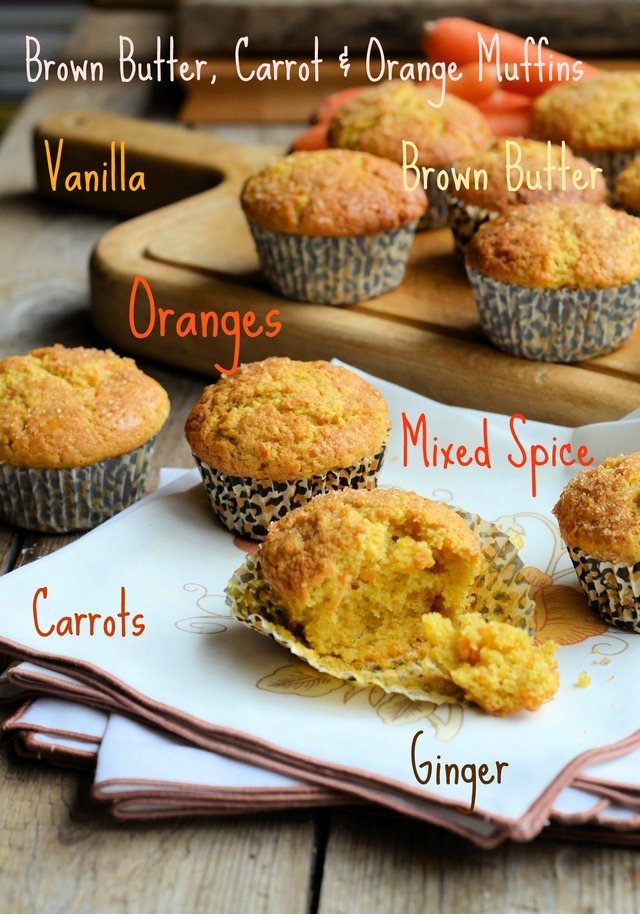 Recipe: Brown Butter, Carrot and Orange Muffins with The Secret Recipe Club