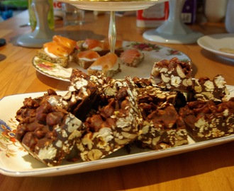Salted peanut, popcorn and Crunchie bars