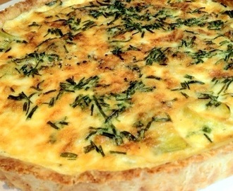 Leek, lancashire and spring onion tart with a parmesan crust
